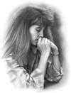 Woman_praying_bw